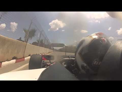 Giacomo Ricci on board lap in Marrakech with AutoGP