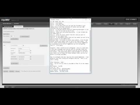 No Audio - EdgeRouter GUI IPsec Config