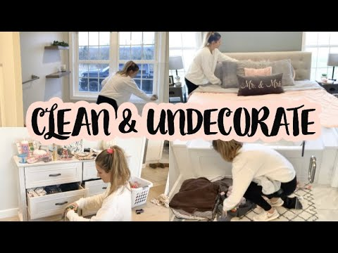 CLEAN & UNDECORATE WITH ME PT 2! // EXTREME CLEANING MOTIVATION // taking down fall (2019) 🤩