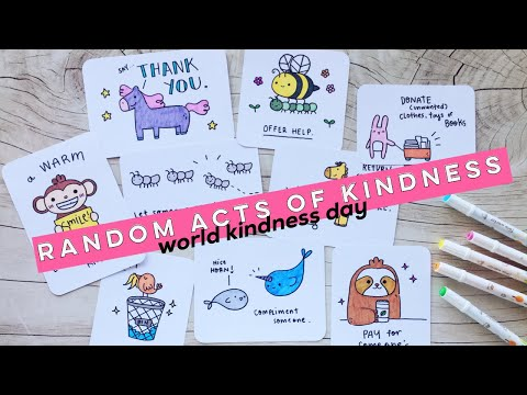 Simple Random Acts Of Kindness Cards | Doodles By Sarah