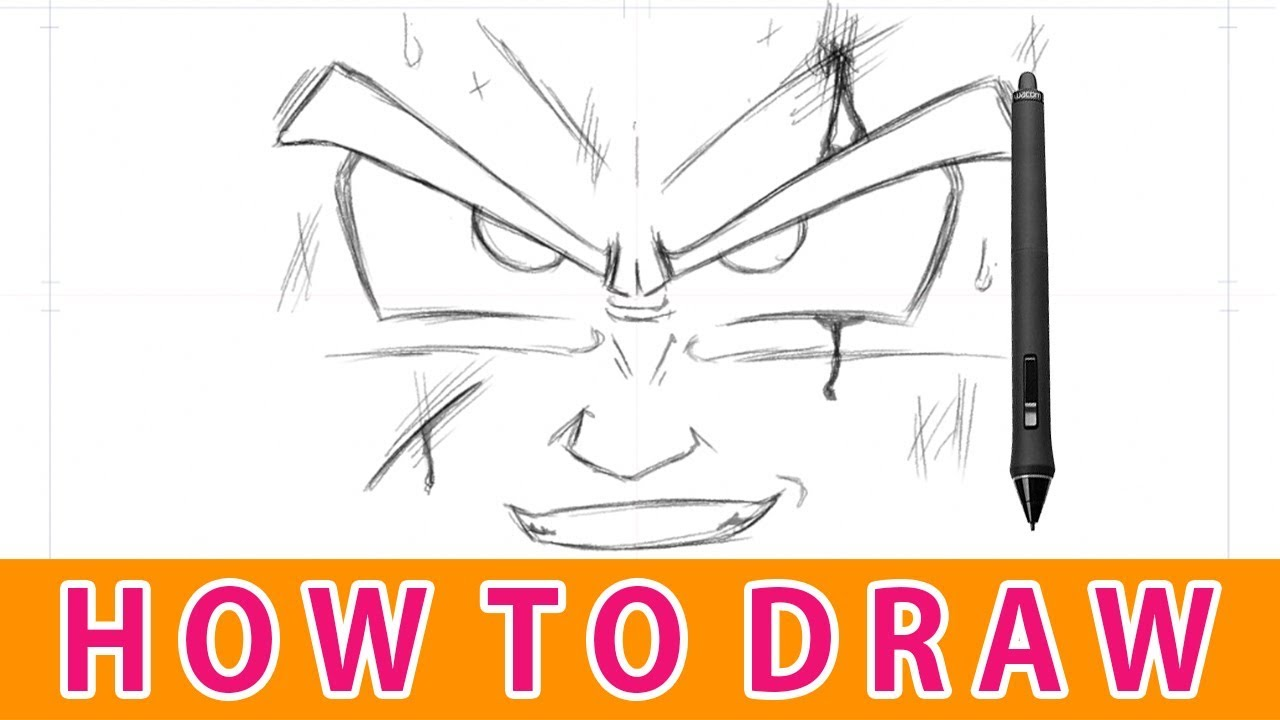 How To Draw The Face Of Goku Simple Tutorial