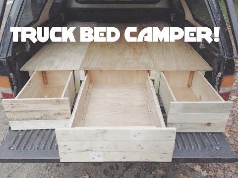 DIY Truck Cap Bed Camper Part 1!