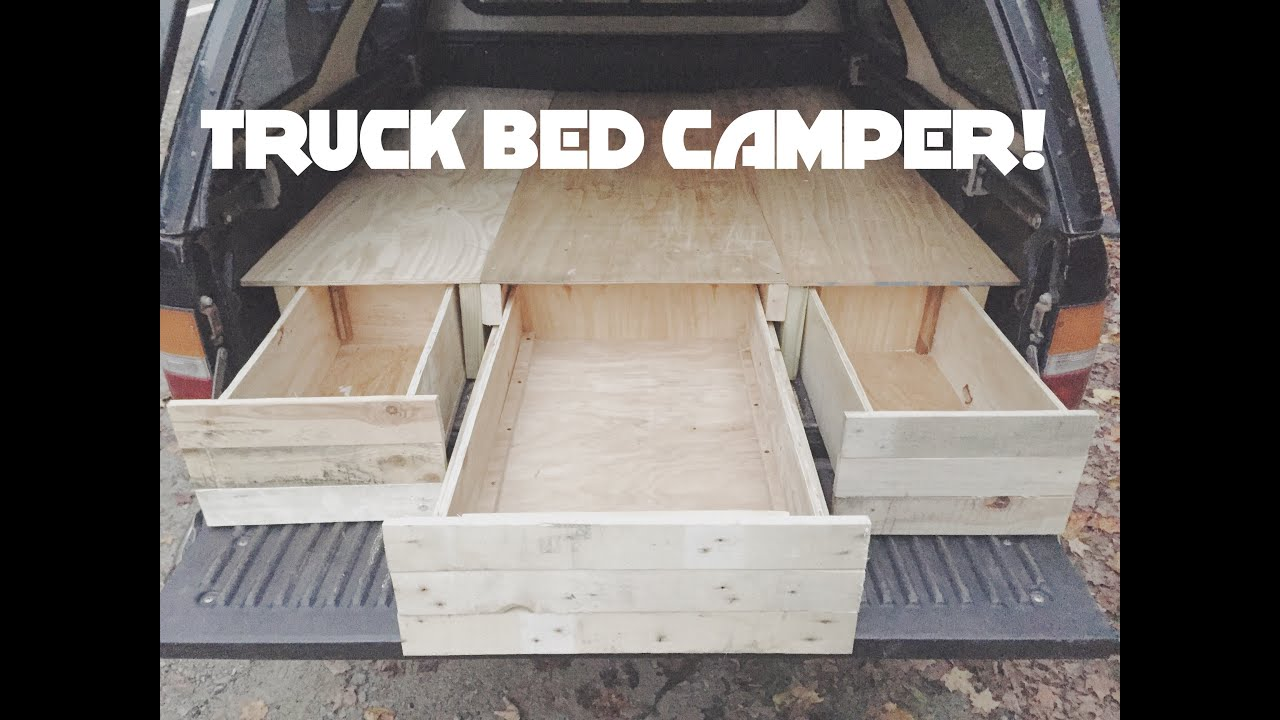 Diy Truck Cap Bed Camper Part 1 Youtube