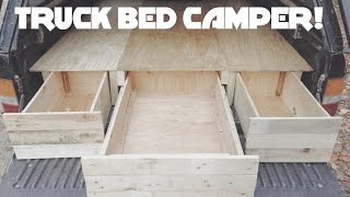 DIY Truck Cap Bed Camper Part 1!