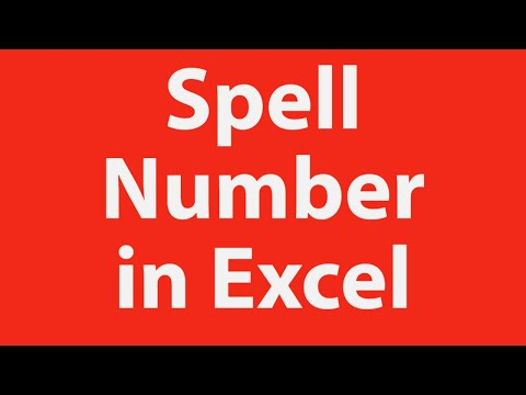 Excel Training - Spell number in Excel