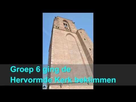 Groep 6 beklimt toren Hervormde kerk
