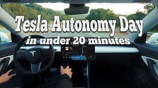 Tesla Autonomy Day in under 20 minutes | Full Self Driving