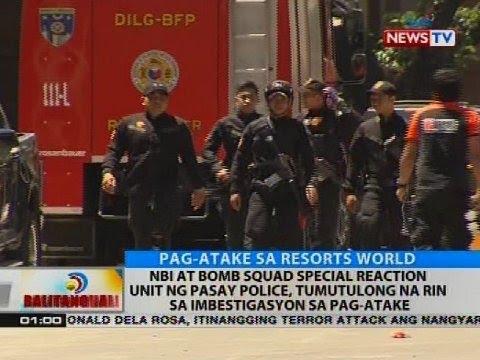 NBI at bomb squad special reaction unit ng Pasay Police, tumutulong na rin sa imbestigasyon