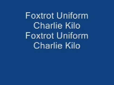 Lyrics for foxtrot uniform charlie kilo