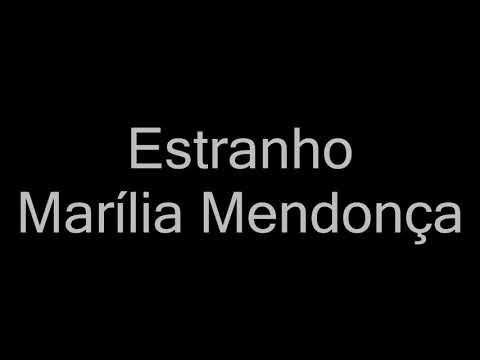 Marília Mendonça - Estranho letra Cover