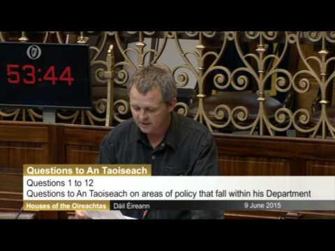 Irish MP reads out quotes made by Israeli Ministers in 2014 and 2015