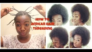 Natural Hair| How to Stretch a TWA Using African Hair Threading