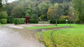 Smithy Park holiday Park , Abermule , Montgomery, mid wales,  floods 26th October 2019