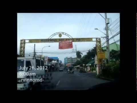 LUCENA CITY - Driving to St. Jude Parish, passing along Gulang-Gulang, Quezon Avenue, Cotta