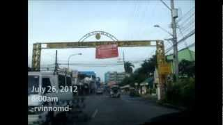 LUCENA CITY - Driving to St. Jude Parish, passing along Gulang-Gulang, Quezon Avenue, Cotta