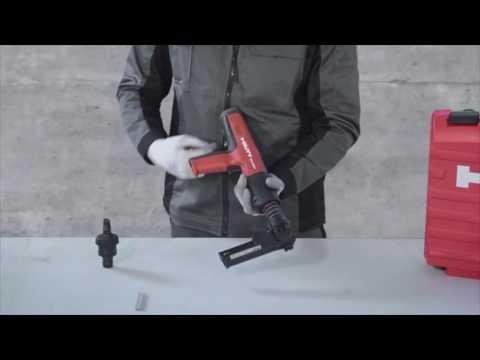 Hilti DX 351 – Cambio de guía pernos