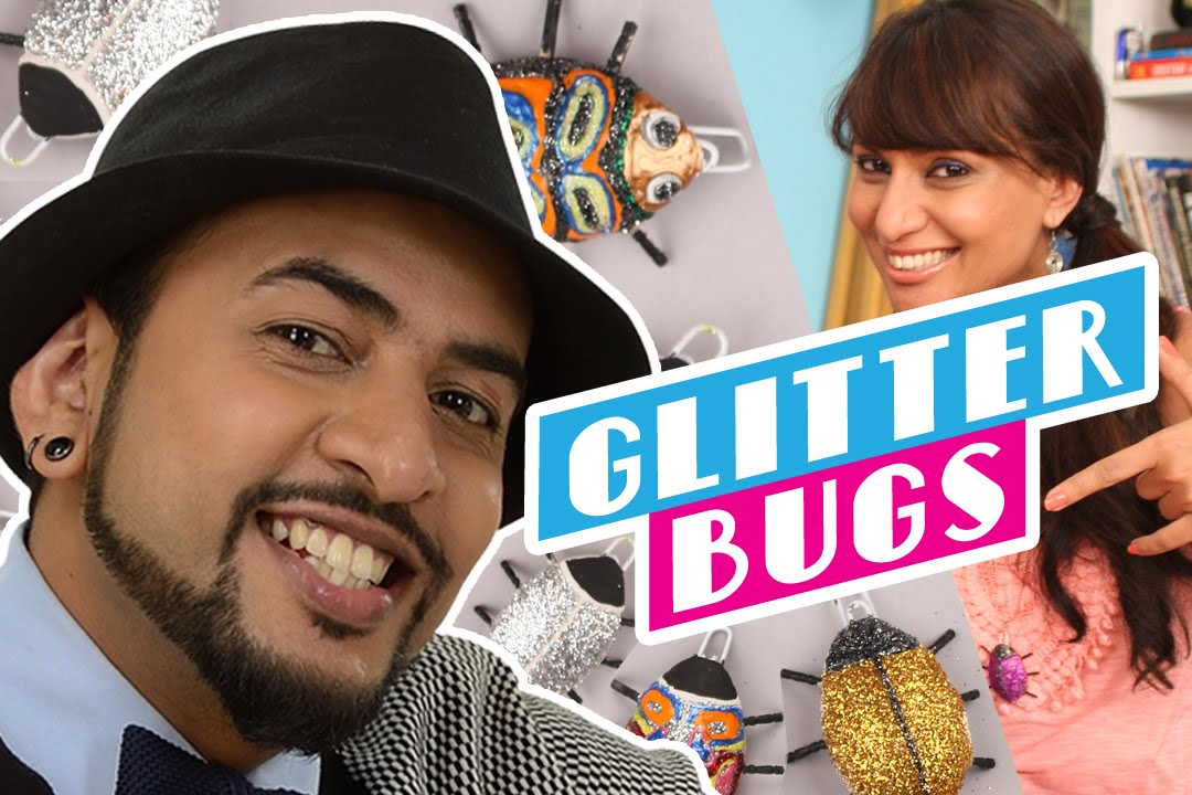 Mad Stuff with Rob – feat. Miss Malini   How to make Glitter Bugs ...