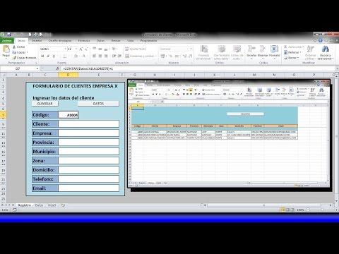 La mejor manera de crear un Formulario o Base de datos de Clientes con macros en Excel