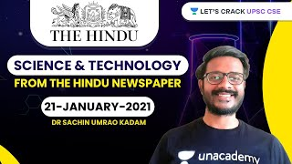 Science and Technology from The Hindu Newspaper | 21-January-2021 | Crack UPSC CSE/IAS | Sachin Sir