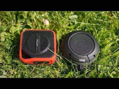 TDK Trek Micro vs. Divoom Voombox Travel - rugged outdoor mini speakers