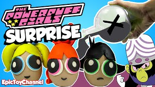 POWERPUFF GIRLS SURPRISE EGGS Kid Friendly Unboxing Cartoon Network Toy Collection Epic Toy Channel