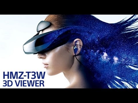 The new Sony HMZ-T3W 3D Head Mounted Display