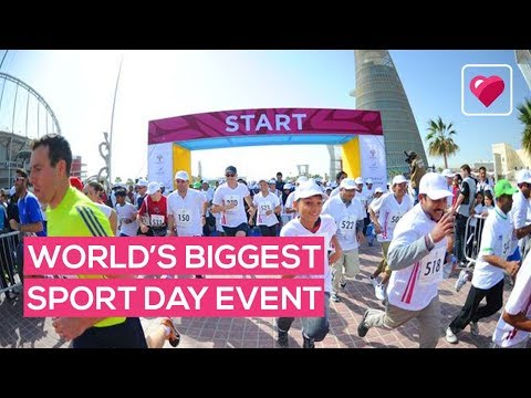 The world's biggest sport day happened right here in Qatar!!