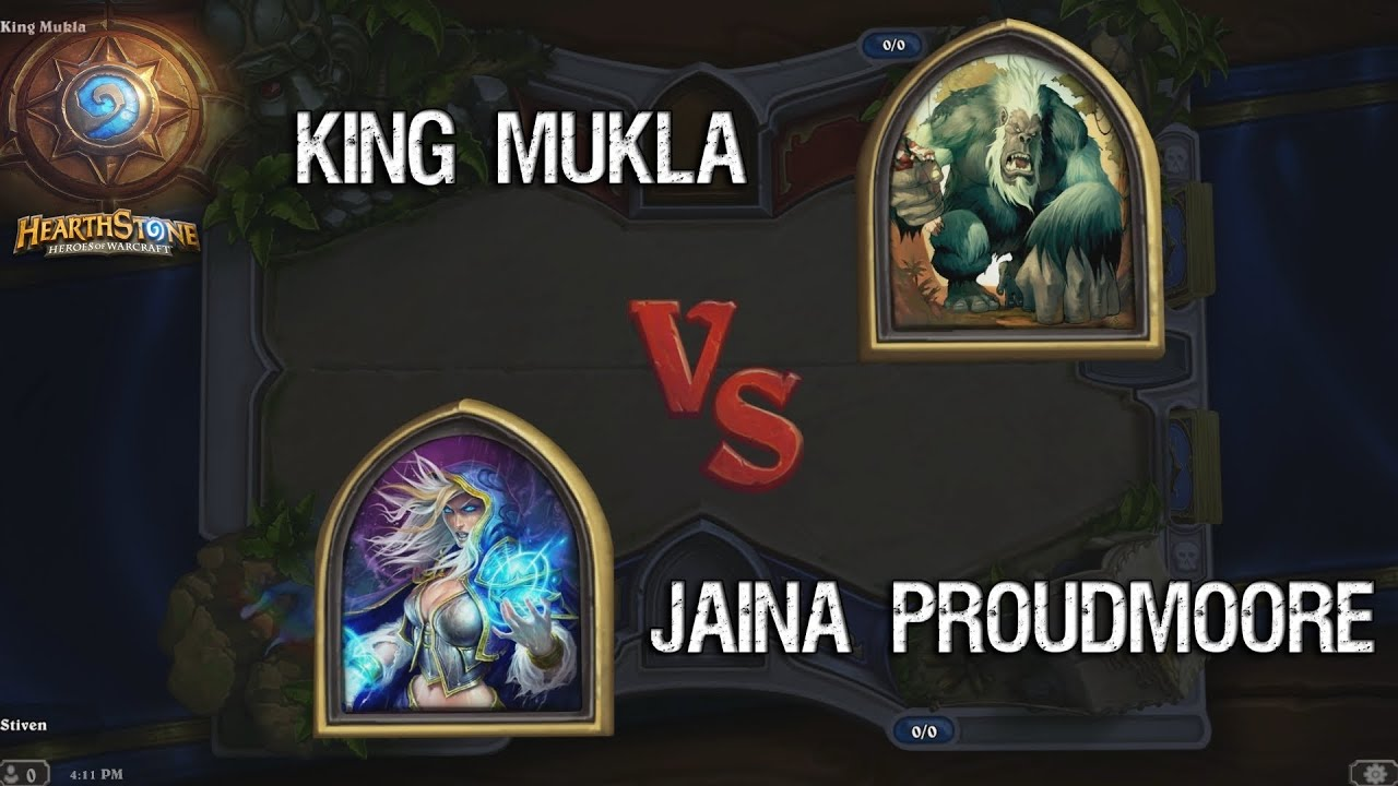 Hearthstone Tutorial - Jaina Proudmoore VS King Mukla ...