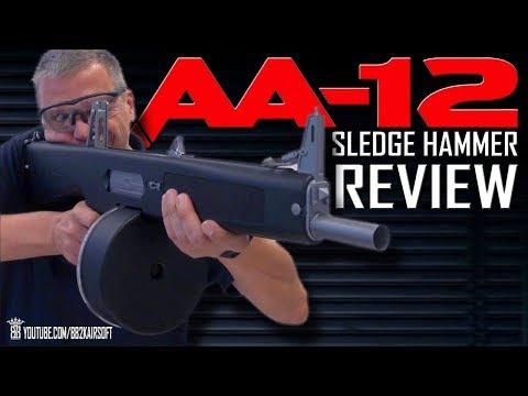 *Airsoft Review *  Tokyo Marui AA12  Drum Mag Sledge Hammer | English Subtitles