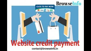 Odoo Website Customer Credit Payment Odoo/OpenERP by BrowseInfo.