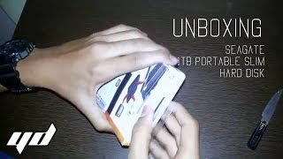 Unboxing | Seagate 1TB Backup Plus Slim Hard Disk Drive | Amazon.in