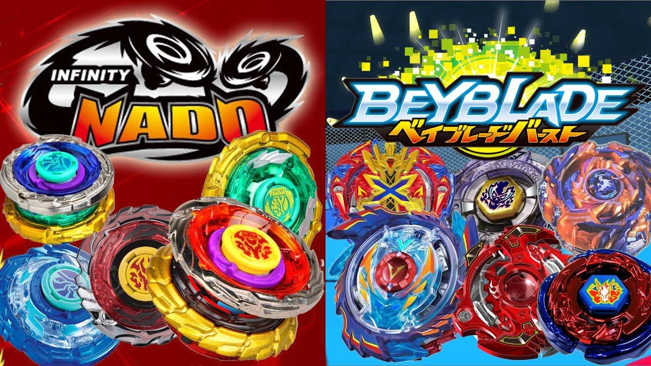 Infinity Nado Vs Beyblades Epic Battles Youtube