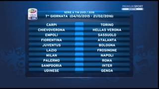 Calendario Serie A 2015/16