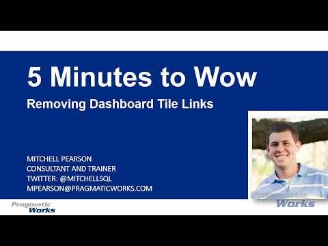 5 Minutes to Wow - Removing Power BI Dashboard Links