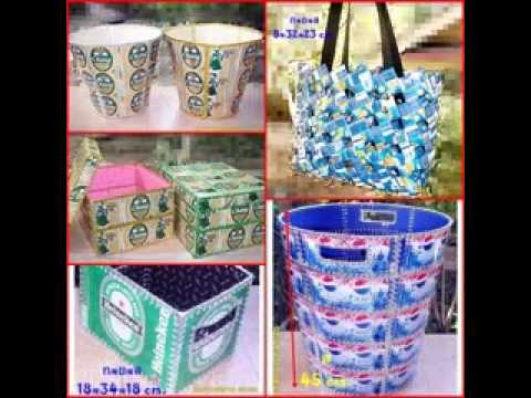 Diy waste material craft projects ideas youtube for Handicraft from waste things