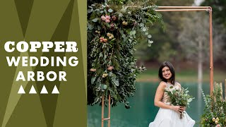 DIY Copper Wedding Arbor - Wedding Decor Ideas - HGTV Handmade