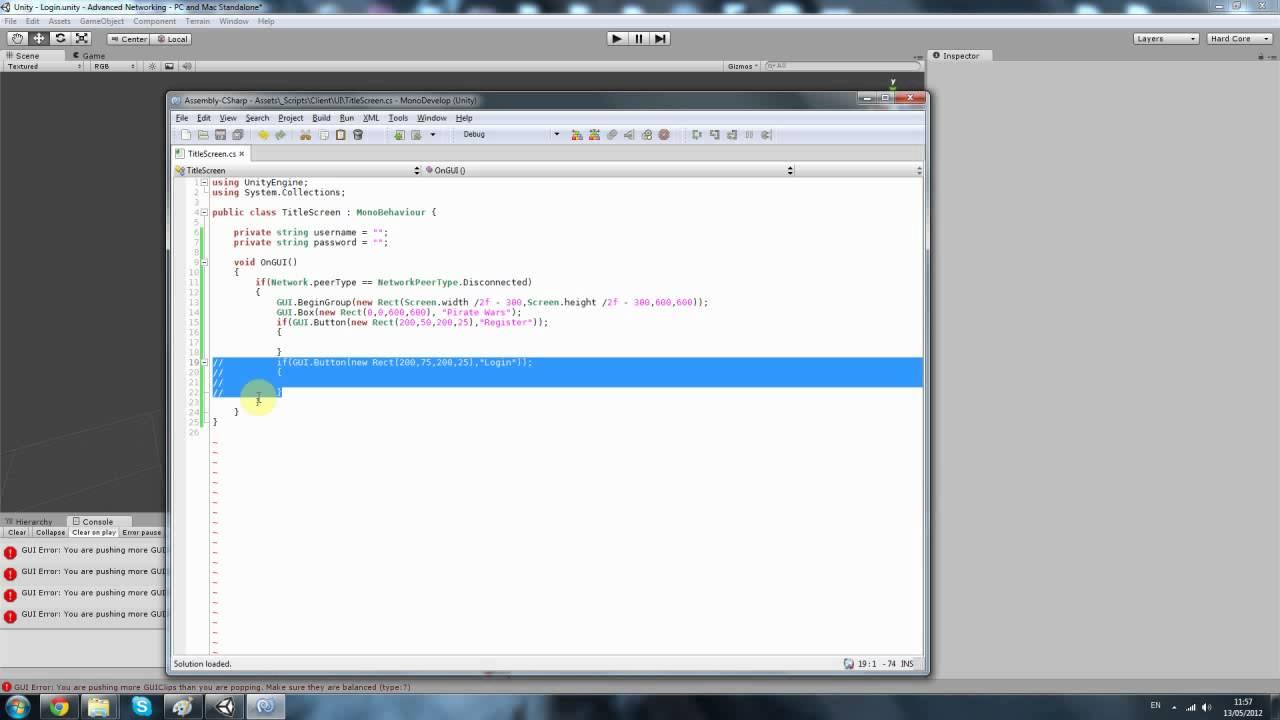 Unity3d Tutorial - Server + Client Advanced (MMO)3