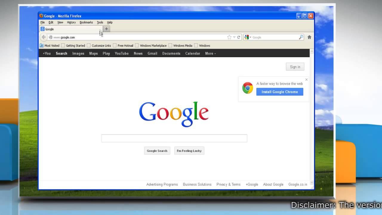 Mozilla Firefox Windows Xp Home Edition