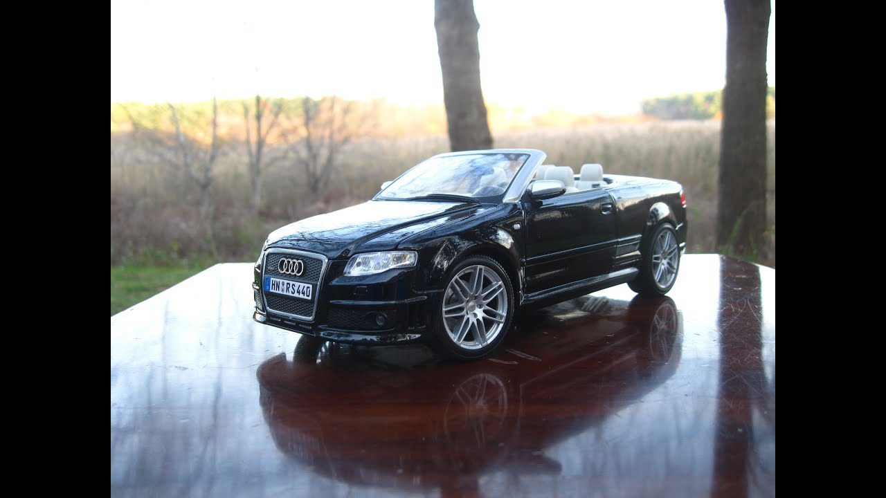 1 18 audi rs4 cabriolet by maisto youtube. Black Bedroom Furniture Sets. Home Design Ideas