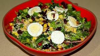 Салат без майонеза. С авокадо и семечками. Салат с яйцом. Моя Dolce vita