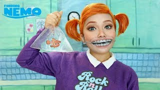 FINDING NEMO Fish Killer 'Darla' Makeup !!!