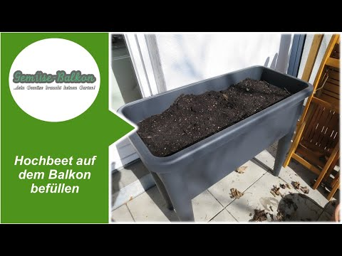 hochbeet auf dem balkon bef llen youtube. Black Bedroom Furniture Sets. Home Design Ideas