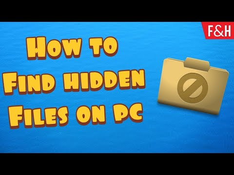 How to find hidden folders on Windows PC (Show hidden files and folders) from YouTube · Duration:  2 minutes 40 seconds