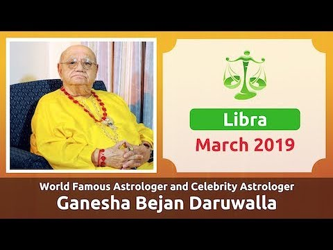 LIBRA MARCH 2019 ASTROLOGY HOROSCOPE FORECAST BY ASTROLOGER GANESHA BEJAN  DARUWALLA