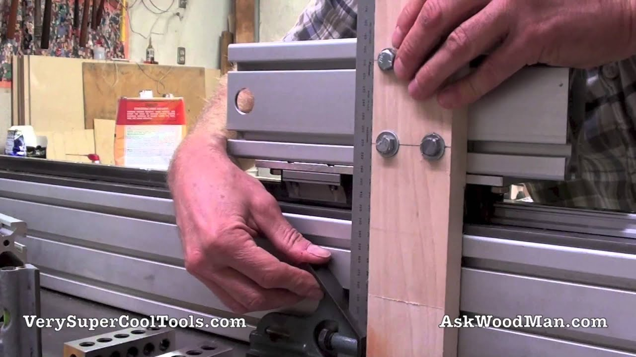2 of 2 Tenoning Jig Using Linear Bearings/Rail Mounted On Aluminum Extrusions - YouTube & 2 of 2: Tenoning Jig Using Linear Bearings/Rail Mounted On Aluminum ...