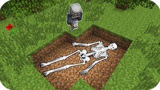 GECE 2:00'DA ARKADAŞIMIN İSKELETİNİ BULDUM! - Minecraft