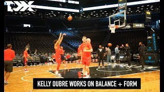 DX Pregame Warmup Routine: Washington Wizards' Kelly Oubre Works On Balance And Form