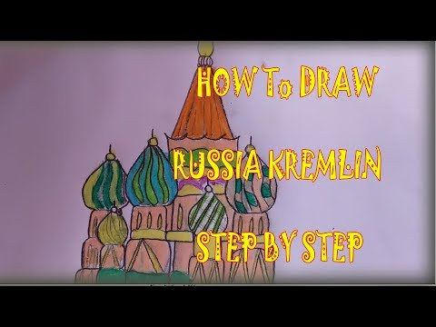 HOW TO DRAW RUSSIA KREMLIN MOSCOW