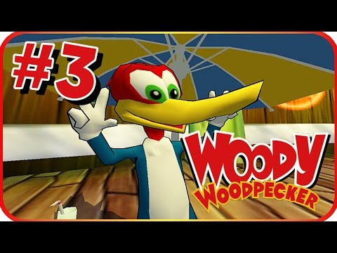Woody Woodpecker: Escape from Buzz Buzzard Park Walkthrough Part 3 (PS2, PC) Level 3 - Pirate Part A