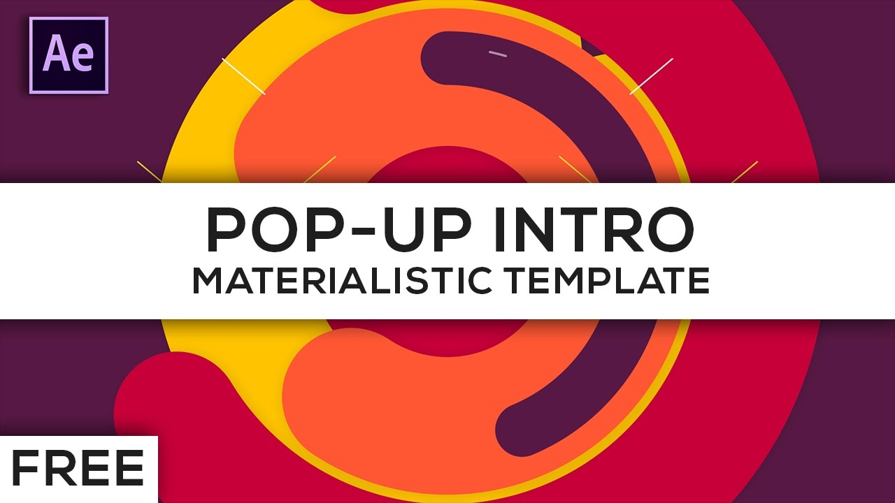 Free Pop Up Intro Template For After Effects Cs6 Cc Youtube